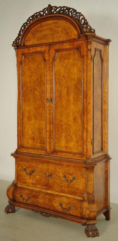 Schöner Neorenaissance Kabinettschrank mit runder Krone Antik Kolosseum 1