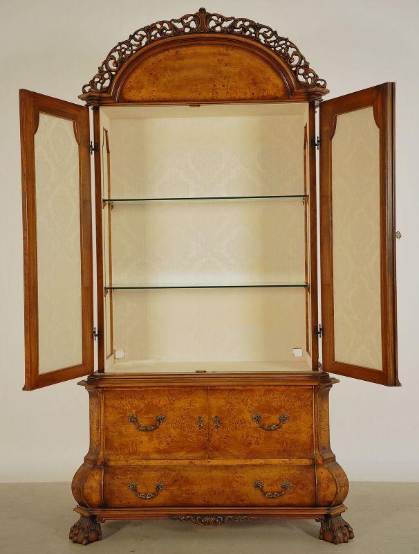Schöner Neorenaissance Kabinettschrank mit runder Krone Antik Kolosseum 2