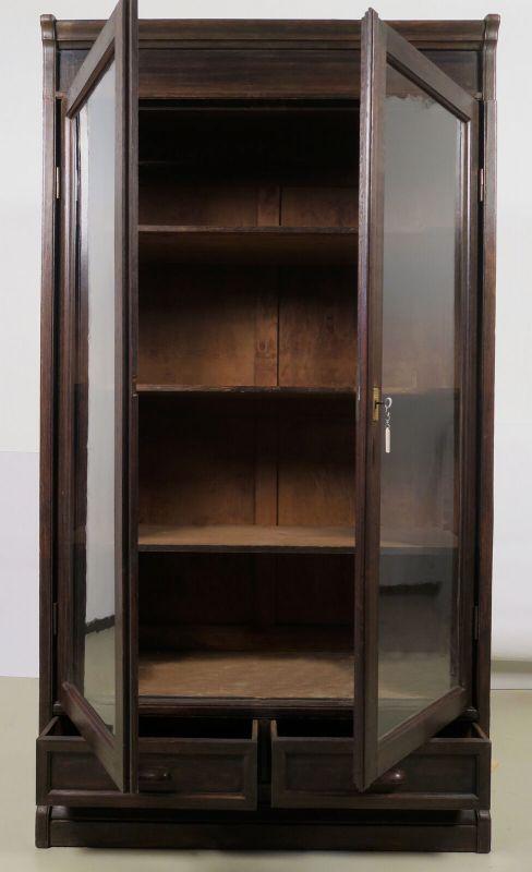 Jugendstil Bücherwand / Bibliothekschrank zwei Vitrinen/ein RegalAntik Kolosseum 5