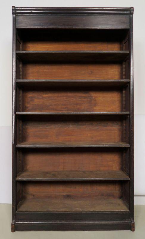 Jugendstil Bücherwand / Bibliothekschrank zwei Vitrinen/ein RegalAntik Kolosseum 6