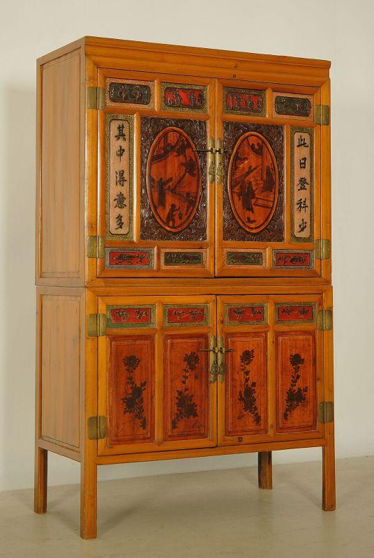 Schöner Chinesischer Küchenschrank mit schönen Beschlägen Antik Kolosseum 1