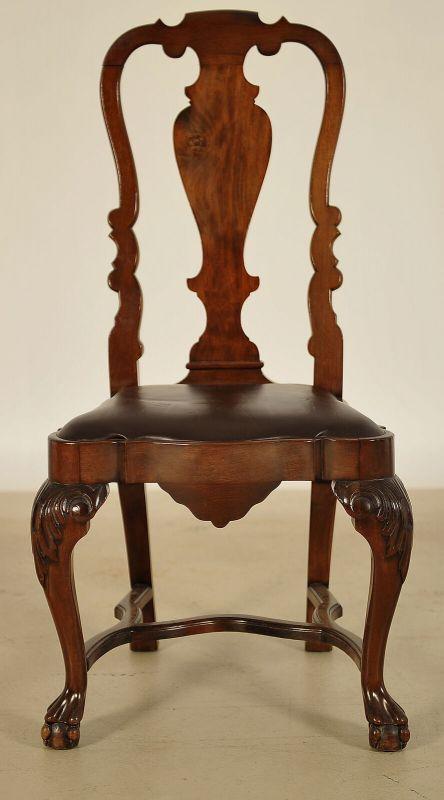 Sechs Queen Anne Stühle aus Mahagoni gefertigt um 1900 Antik Kolosseum 2