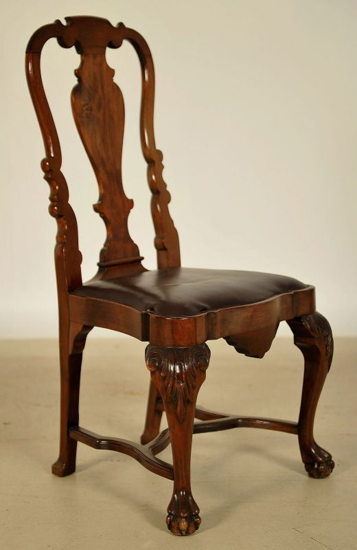 Sechs Queen Anne Stühle aus Mahagoni gefertigt um 1900 Antik Kolosseum 3