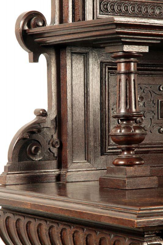 Gründerzeit Prunk Vertiko mit eleganten Bronzemedallions Antik Kolosseum 4