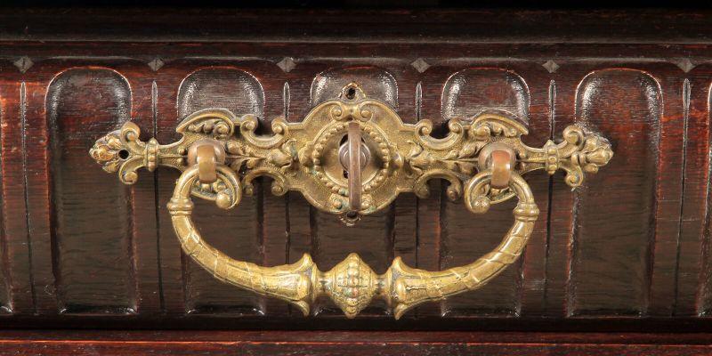 Gründerzeit Prunk Vertiko mit eleganten Bronzemedallions Antik Kolosseum 5