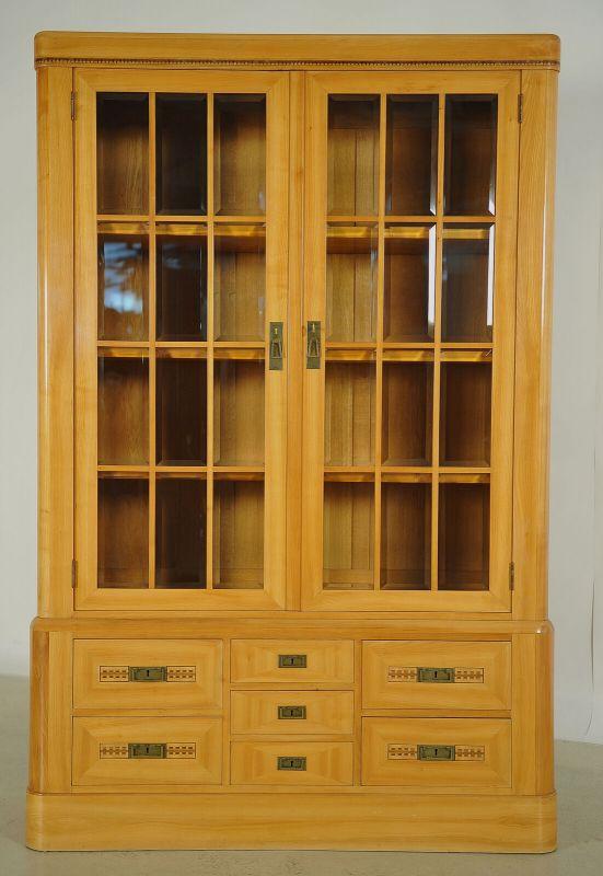 Elegantes 13-teiliges Wiener Jugendstil Kirschholz Speisezimmer Antik Kolosseum 2