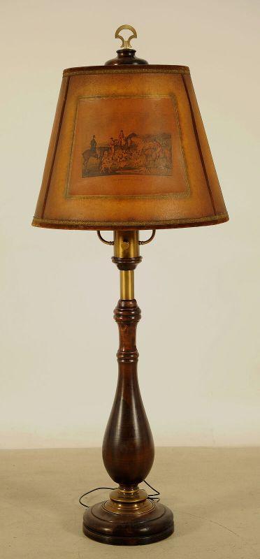 Beeindruckende Stehlampe mit Balustersäule / MessingapplikationenAntik Kolosseum