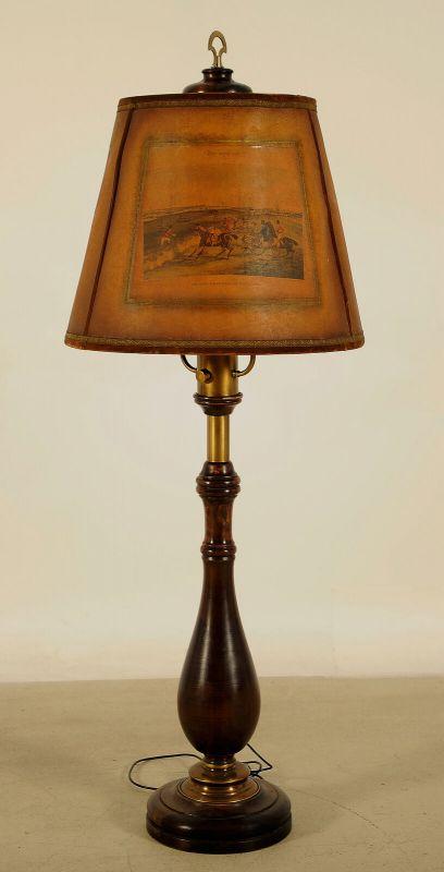 Beeindruckende Stehlampe mit Balustersäule / MessingapplikationenAntik Kolosseum 1