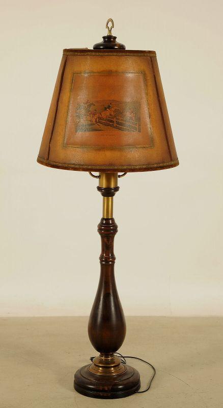 Beeindruckende Stehlampe mit Balustersäule / MessingapplikationenAntik Kolosseum 2