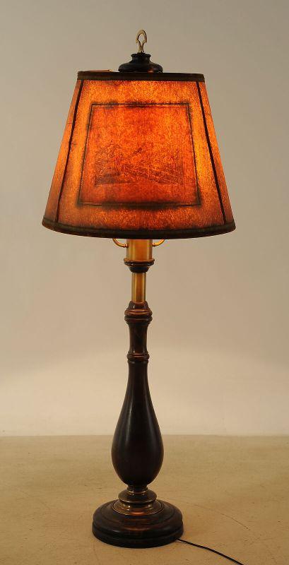 Beeindruckende Stehlampe mit Balustersäule / MessingapplikationenAntik Kolosseum 3