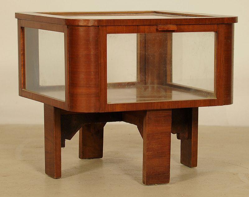 Schöne Schauvitrine, Teetisch aus dem Art Deco gefertigt um 1920 Antik Kolosseum 0