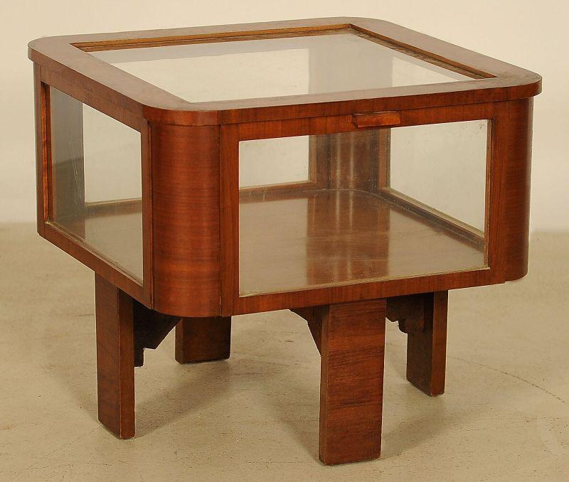Schöne Schauvitrine, Teetisch aus dem Art Deco gefertigt um 1920 Antik Kolosseum 1