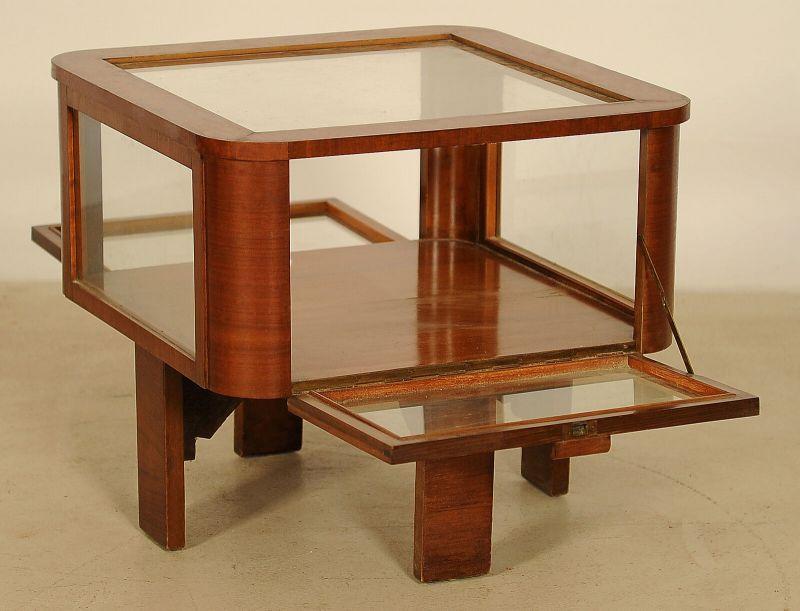 Schöne Schauvitrine, Teetisch aus dem Art Deco gefertigt um 1920 Antik Kolosseum 2