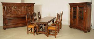 Außergewöhnliches 9- teiliges Speisezimmer aus dem Historismus Antik Kolosseum