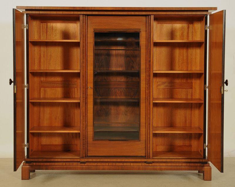 Unglaublicher, interessant getreppter Art Deco Bücherschrank Antik Kolosseum 2