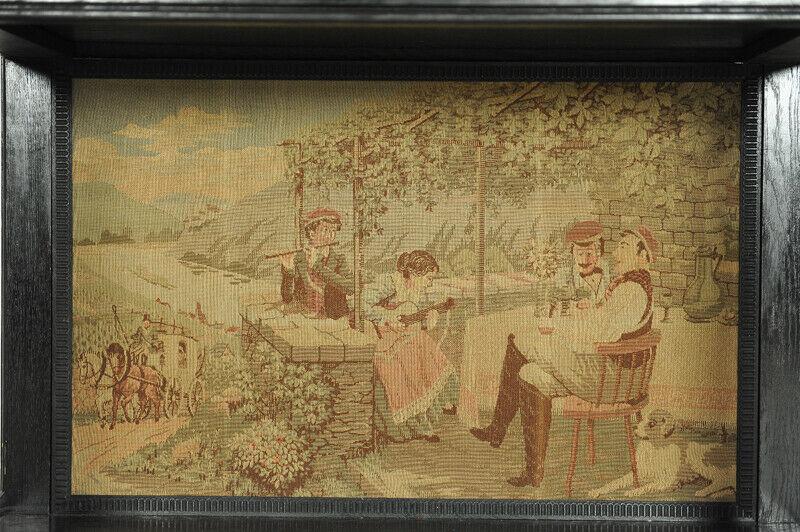 Dunkler Kabinettschrank aus der Neogotik mit Schublade Antik Kolosseum 2