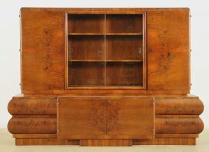 Interessanter Art Deco Bücherschrank aus Nussbaum Antik Kolosseum