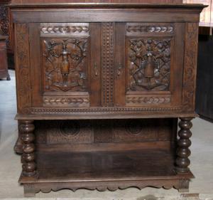 Repräsentativer Sakristei - Schrank aus dem Danziger Barock Antik Kolosseum