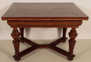 Gründerzeit Ausszugs- Tisch mit zwei Einlegeplatten um 1900 Antik Kolosseum