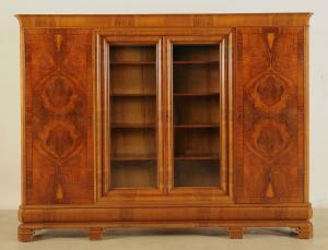 Art Deco Bücherschrank mit schönem Unterbau Antik Kolosseum