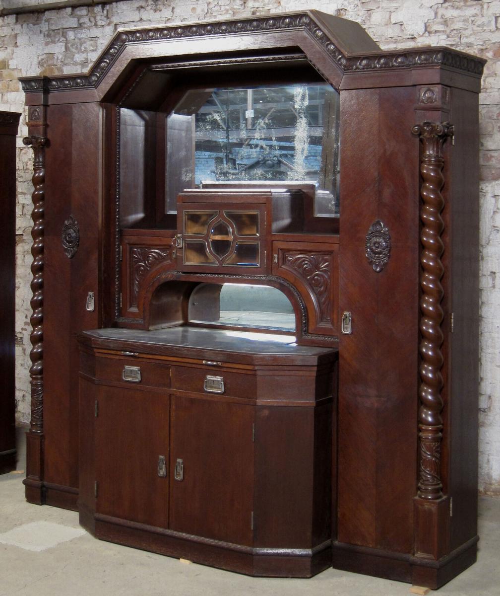 Wiener Jugendstil Buffet mit interessanter Gliederung Antik Kolosseum 3