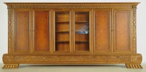 Riesiger sechstüriger Neorenaissance Bücherschrank Antik Kolosseum