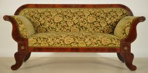Biedermeier Sofa mit Bronzemedallions