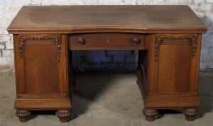 Berliner Eiche Schreibtisch aus der Gründerzeit gefertigt 1900 Antik Kolosseum