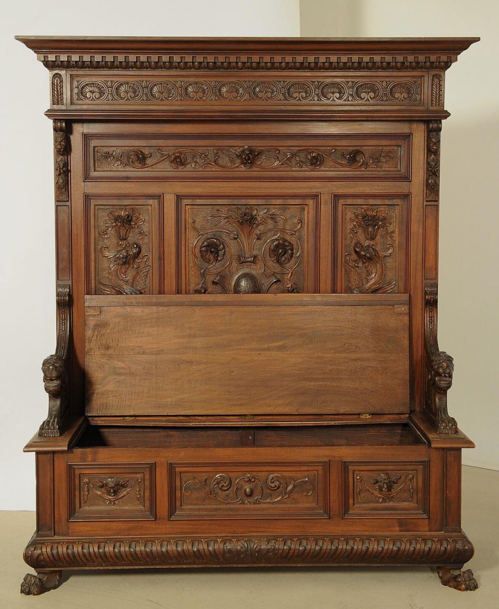 Fulminante prunkvolle Sitzbank aus dem Historismus Antik Kolosseum 4