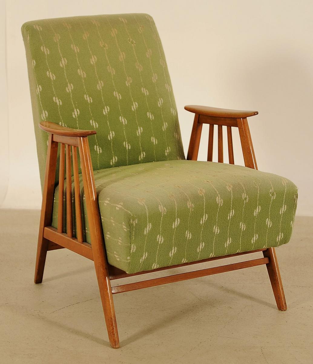 Schöner 50er Jahre Sessel aus Buchenholz Antik Kolosseum
