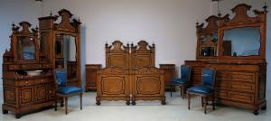 Originales Louis Philippe Schlafzimmer mit Waschtisch Antik Kolosseum