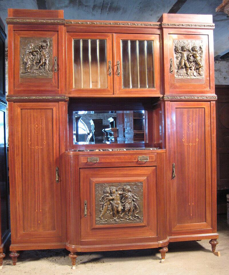 Zwei traumhafte Jugendstil Buffets und ein Auszieh- Tisch Antik Kolosseum | antik.de