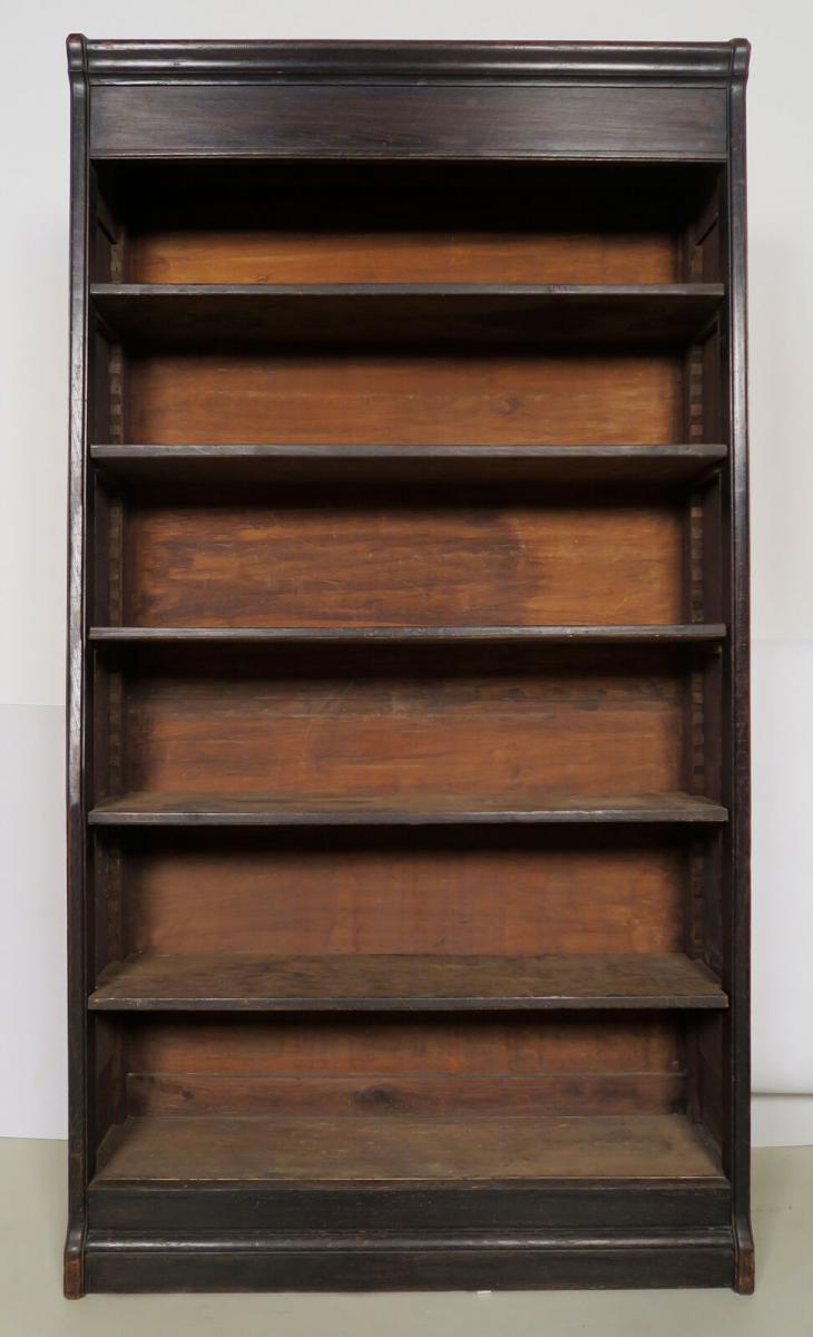 Dreiteilige Jugendstil Bücherwand / Bibliothekswand aus Eiche Antik Kolosseum 6