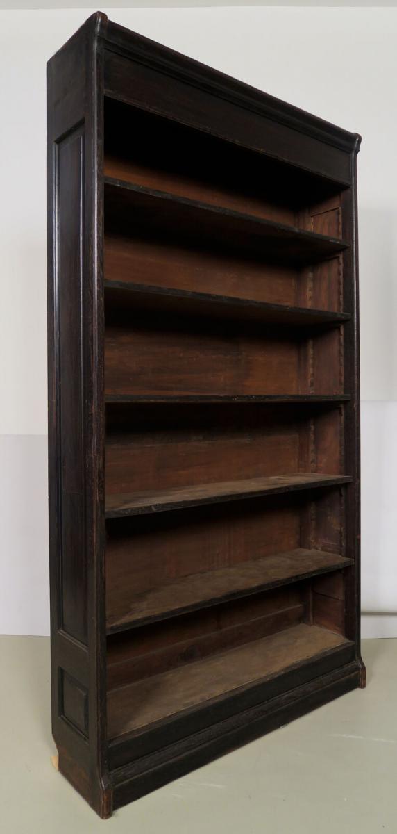 Dreiteilige Jugendstil Bücherwand / Bibliothekswand aus Eiche Antik Kolosseum 7