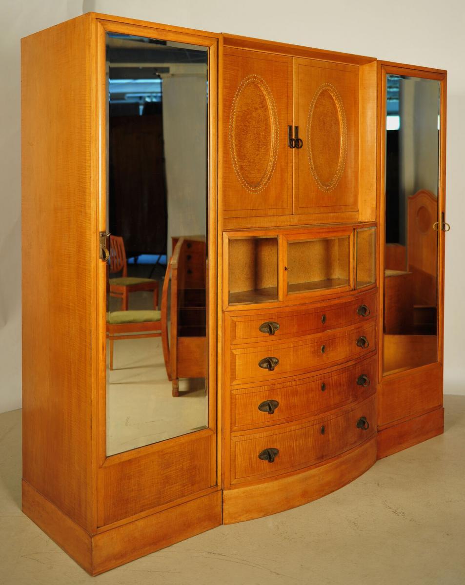 Außergewöhnliches Jugendstil Schlafzimmer aus Birkenholz Antik Kolosseum 6
