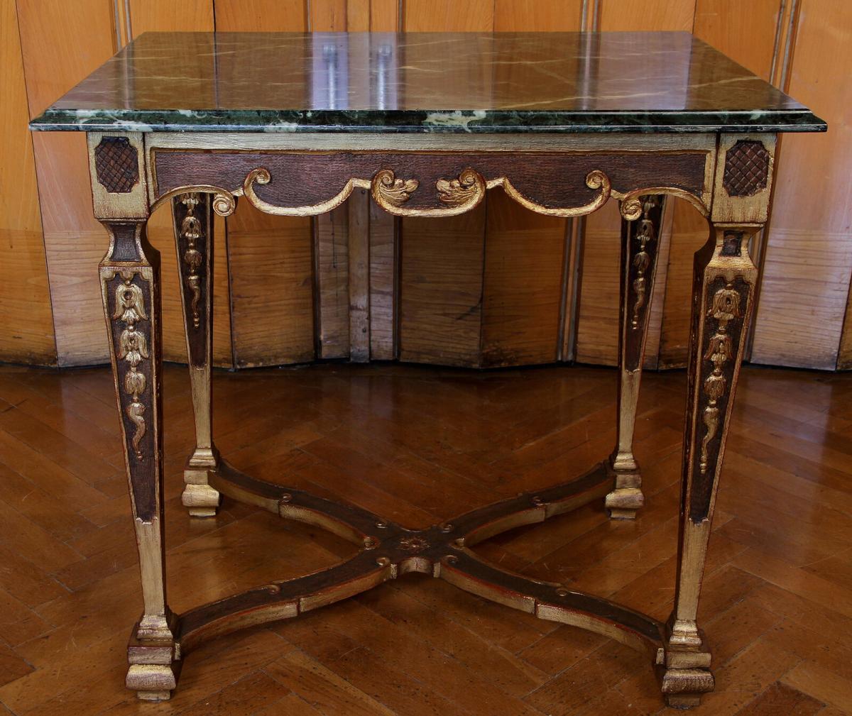 Französischer höfischer Barock Tisch gefertigt um 1780 Antik Kolosseum 0