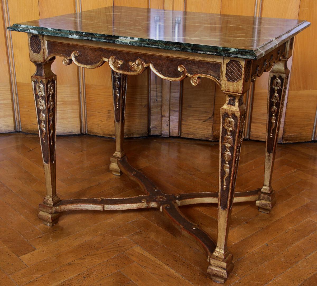 Französischer höfischer Barock Tisch gefertigt um 1780 Antik Kolosseum 1