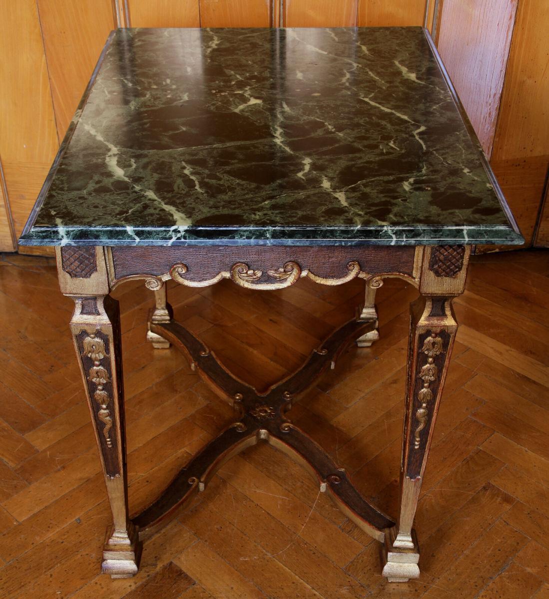 Französischer höfischer Barock Tisch gefertigt um 1780 Antik Kolosseum 2