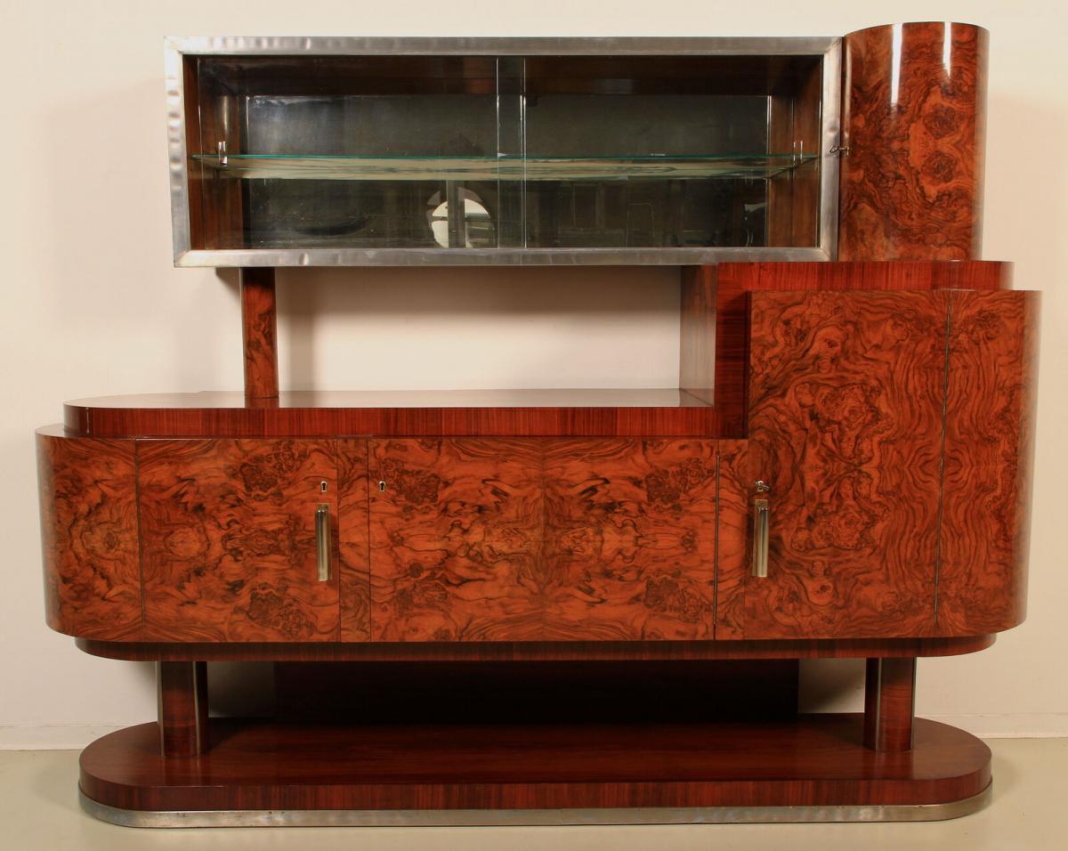 Art Deco Buffet in Trommelform 0