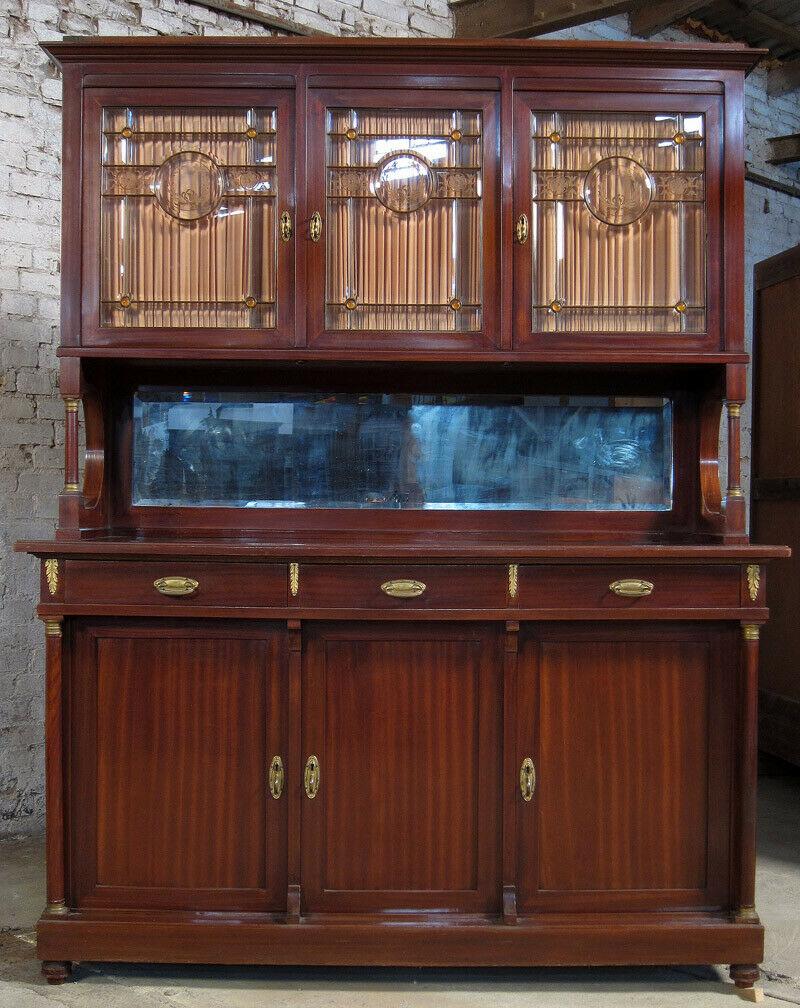 9- teiliges Mahagoni Speisezimmer aus dem 2. Empire um 1910 Antik Kolosseum 6