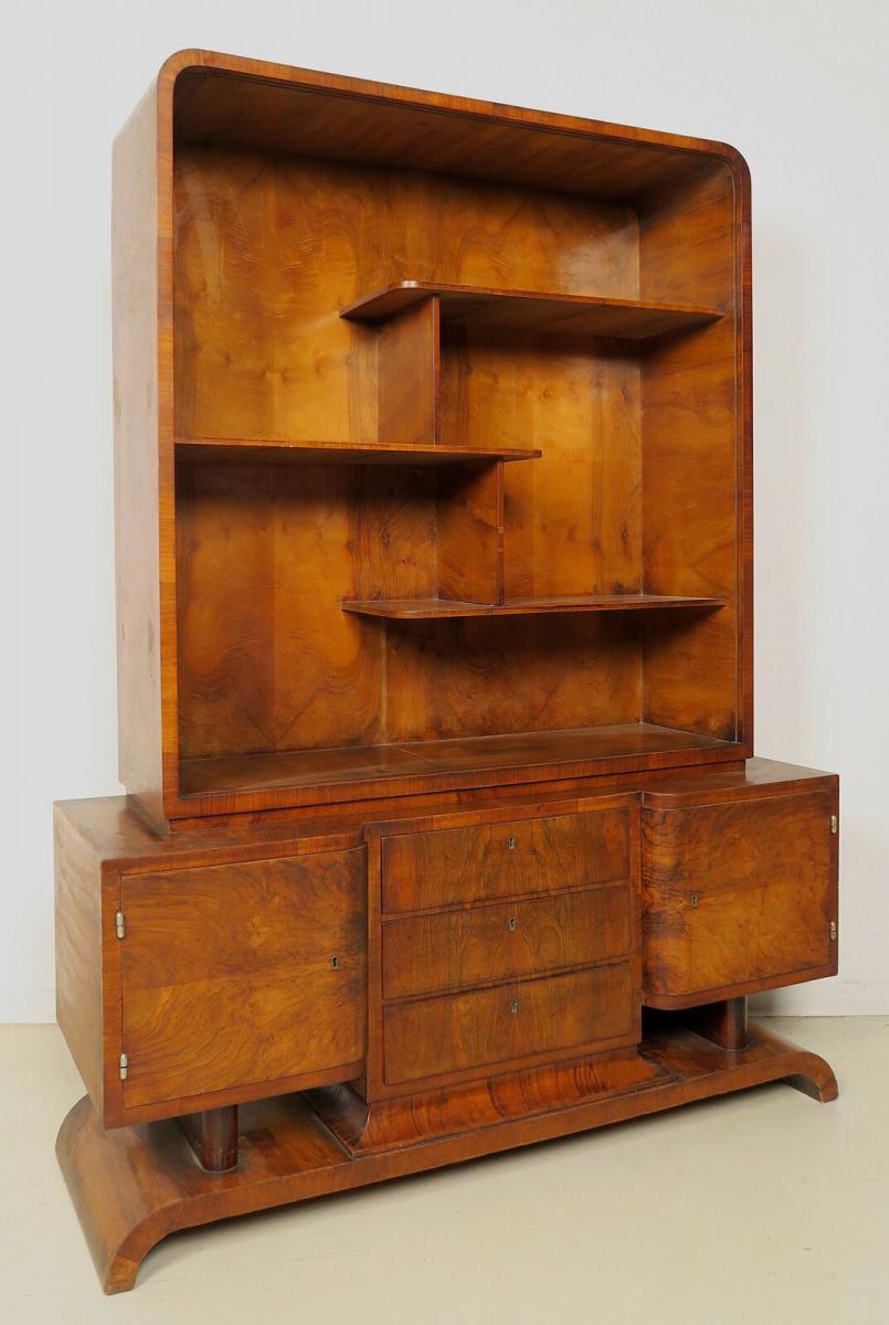 Eleganter Bücherschrank aus dem stilvollen Art Deco Antik Kolosseum 0