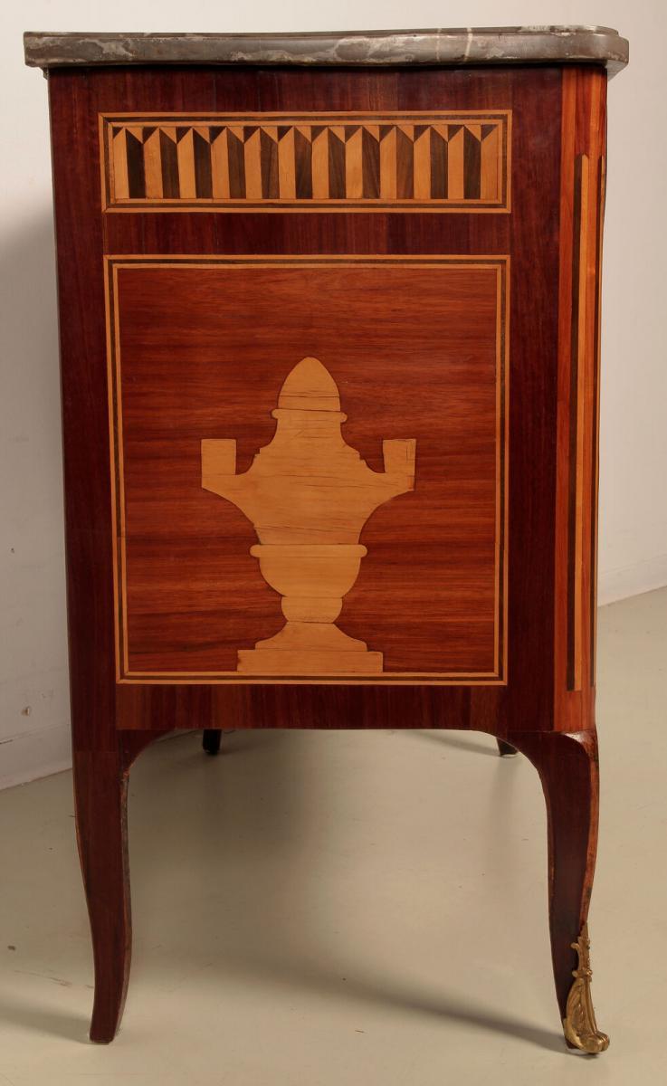 Louis Seize Stil Kommode gefertigt um 1900 aus diversen Hölzern Antik Kolosseum 2