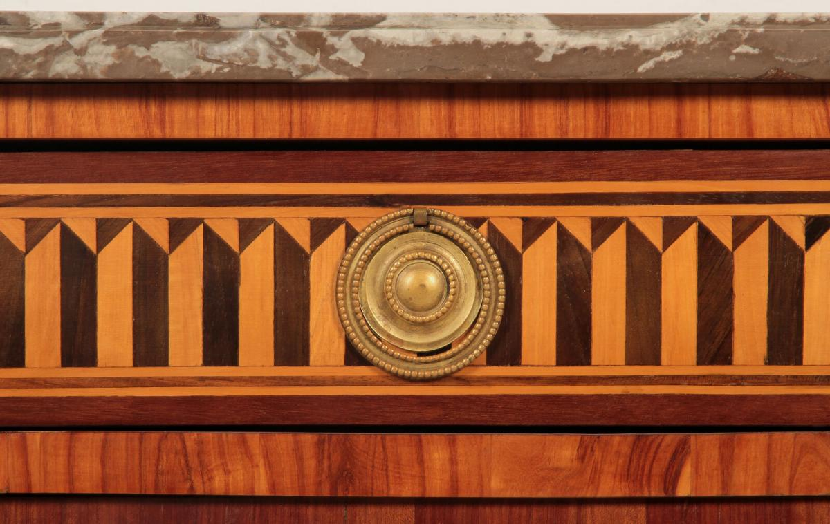 Louis Seize Stil Kommode gefertigt um 1900 aus diversen Hölzern Antik Kolosseum 3