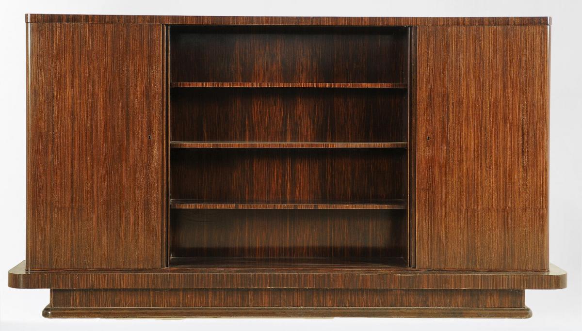 Eleganter Bauhaus Bücherschrank aus Palisanderholz Antik Kolosseum