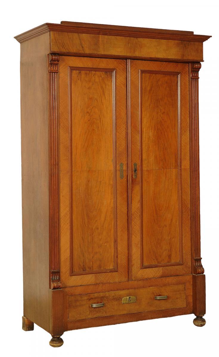 Schöner Gründerzeit Kleiderschrank mit Schublade Antik Kolosseum 1