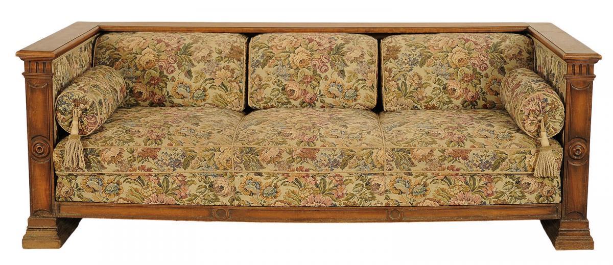 Großes Gründerzeit Kastensofa gefertigt um 1900 Antik Kolosseum