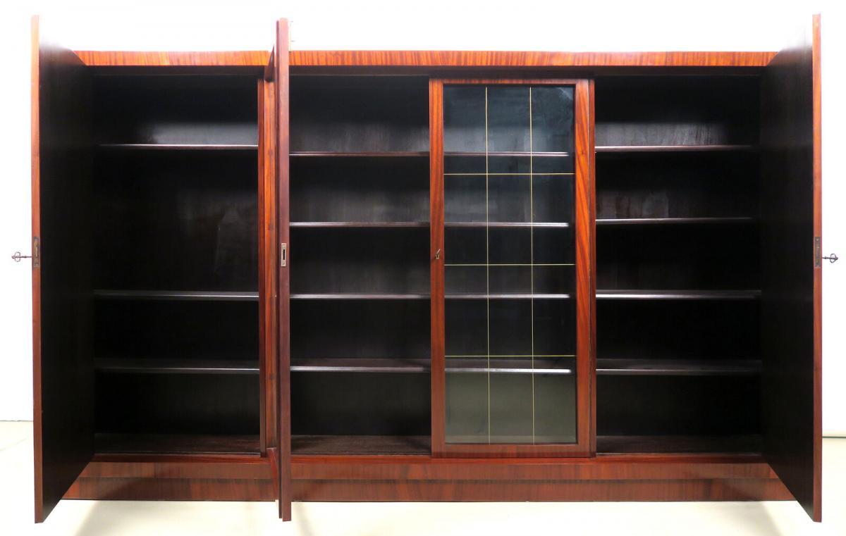 Viertüriger Bauhaus Bücherschrank aus Makassar gefertigt Antik Kolosseum 4
