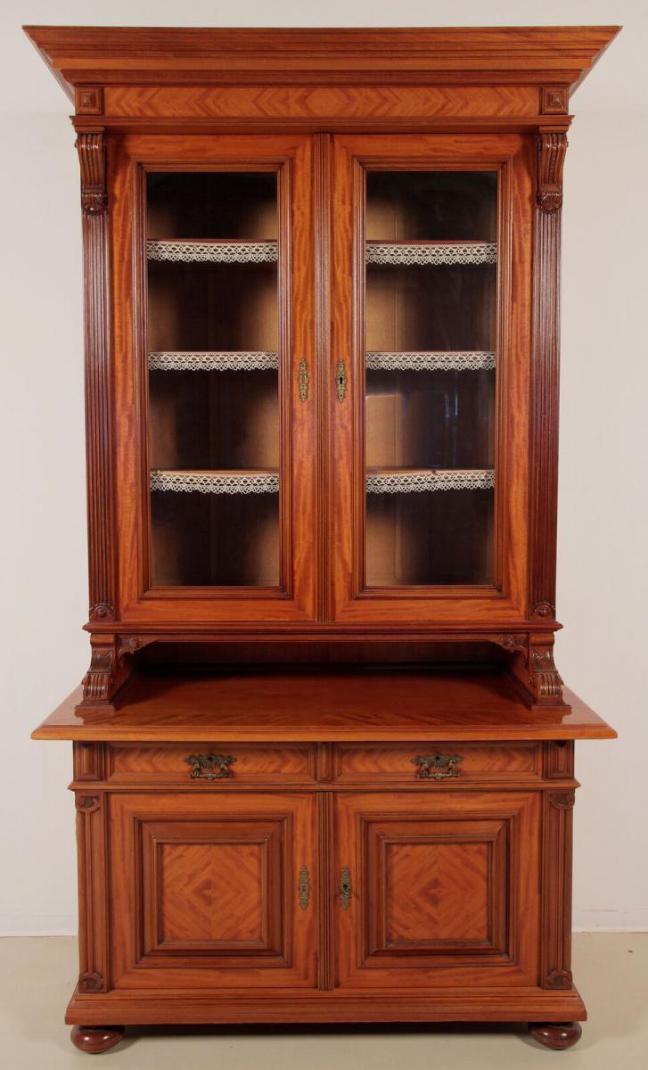 Eleganter Gründerzeit Aufsatz - Bücherschrank gefertigt um 1890 Antik Kolosseum 0