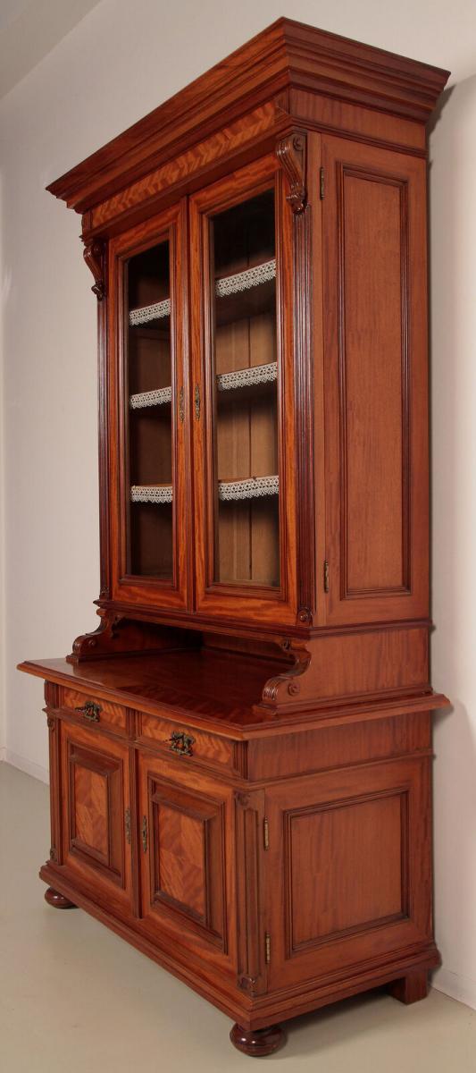 Eleganter Gründerzeit Aufsatz - Bücherschrank gefertigt um 1890 Antik Kolosseum 2