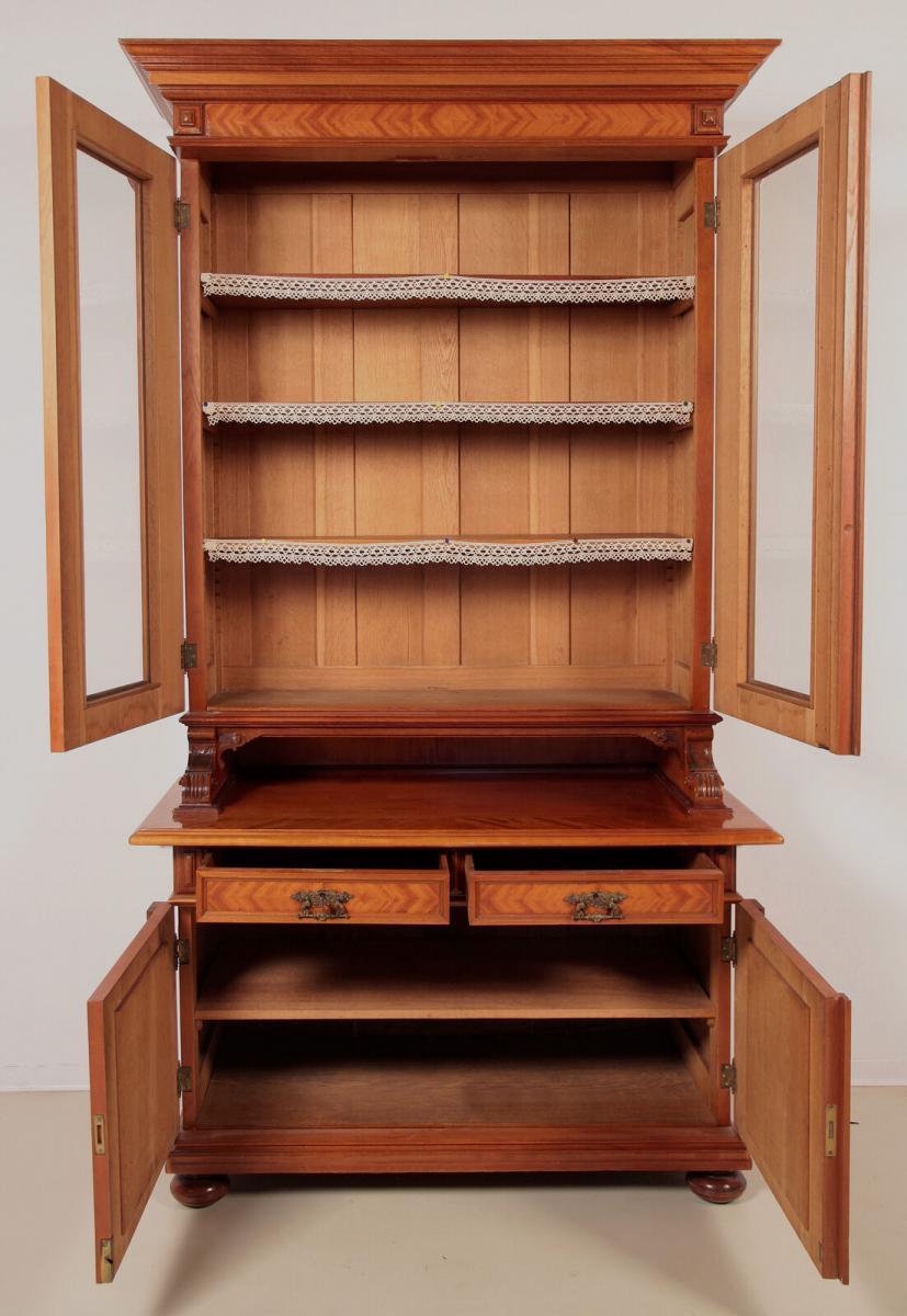 Eleganter Gründerzeit Aufsatz - Bücherschrank gefertigt um 1890 Antik Kolosseum 3